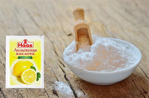 Лимонная кислота в сочетании с содой подойдет для электрических и обычных чайников